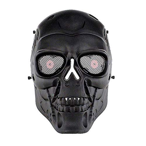 HTUK Softair-Totenkopf, -Schutzmaske, schwarz