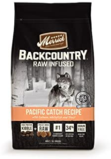 Merrick Backcountry Grain Free Raw Infused Pacific Catch Adult Dog Food 12 lbs.