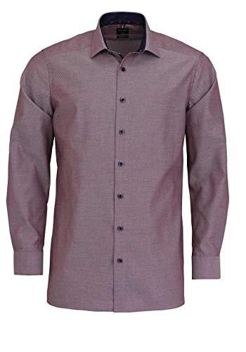OLYMP 1204/44 - Camicia Rosso Scuro 45
