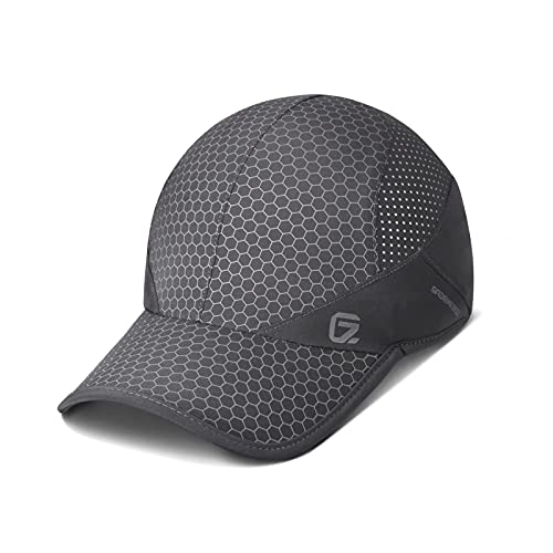 Sport Cap,Soft Brim Lightweight Waterproof Running Hat Breathable Baseball Cap Quick Dry Sport Caps Cooling Portable Sun Hats for Men and Woman Performance Workouts and Outdoor Activities Dark Grey