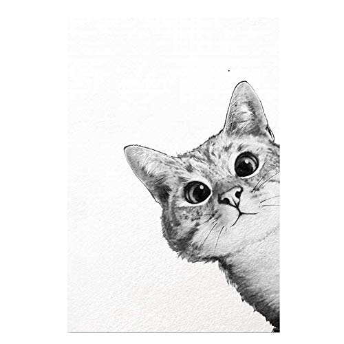 Danigrefinb Kawaii Cartoon Tier Katze Art Leinwand Poster Minimalistischen Malerei Kids Room Decor Animal Cartoon Zeichen Art Painting, Canvas, 1#, 50 x 70 cm