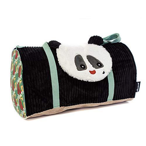 Les Déglingos - Rototos Le Panda - Sac Voyages - pour Enfants - Sac Week-End - Ideal pour partir en Vacances - Spacieux - Ultra Doux - Peluche