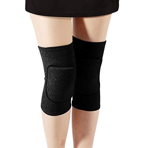 Rtudan Best Knee Pads for Dancers, Non-Slip Knee Pads, Thicken Sponge Brace,Knee Guards for Dance Knee Pads, Yoga Knee Pads, Gymnastics Knee Pads (Black, Medium)