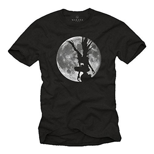 T-Shirt Hombre Manga Anime Comic - Camiseta Ryuk Shinigami Death Note Negra L