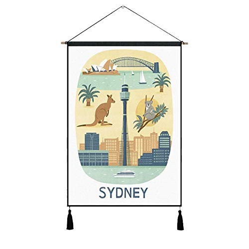 Posters Paintings Barcelona Croatia Hawaii Roma Sydney Travel - Póster de pintura...