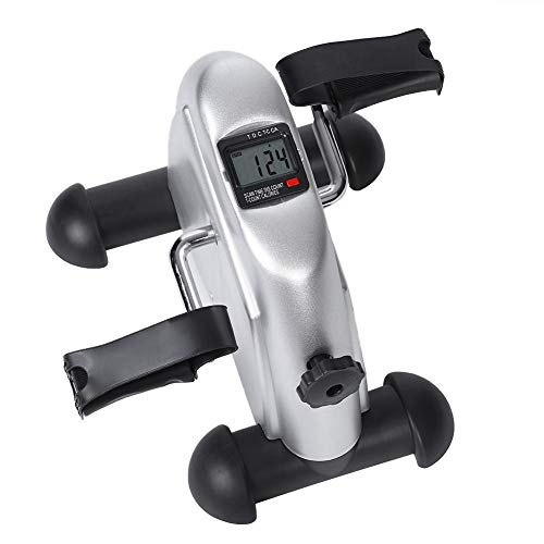 Cerlingwee Pedal Exerciser, komplett zusammengebauter Exercise Peddler Mini und Compact Mini Pedal Exerciser Mini-Übungswerkzeug Tragbares Pedal Exerciser Büro für den Wohnheimheim