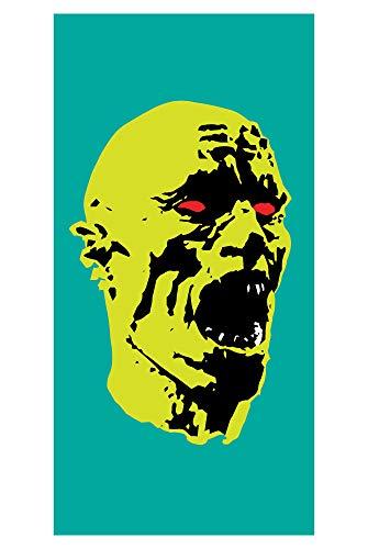 LimeWorks Toalla de Baño, 70x140 cm, Horror Monstruo Verde