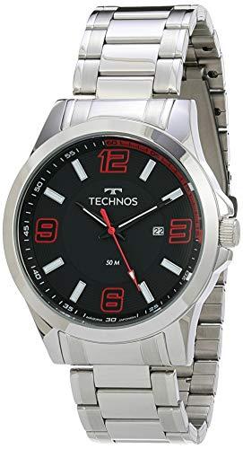 Relógio Technos, Pulseira de Aço Inoxidável, Masculino Prata 2115KLM/1R