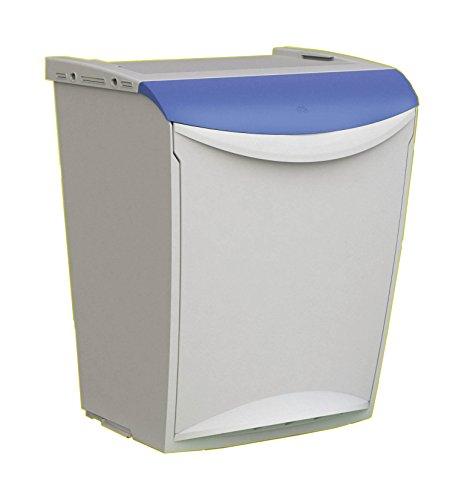 Denox Cubo Basura ecológico, Azul y Gris, Centimeters