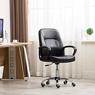 Mid Back Executive Office Chair,360 Degree Swiv...