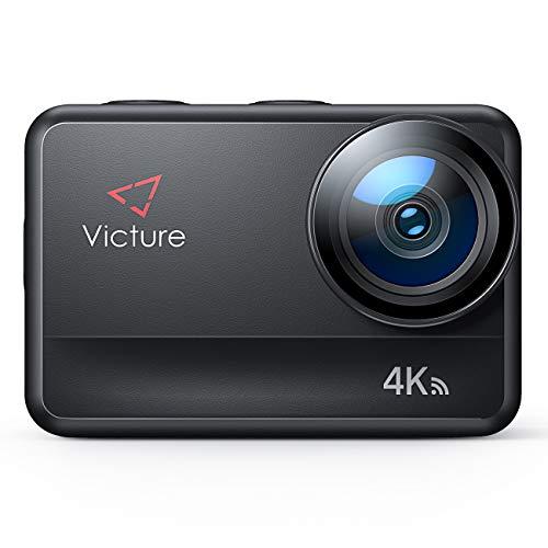 Victure AC940 5M Bare Metal wasserdichte Action Cam 4K 60FPS 20MP WiFi-Action-Kamera mit Touchscreen-Vlog-Kamera EIS-Fernbedienung 131 Fuß Unterwasserkamera mit 2X 1350mAh Batterien