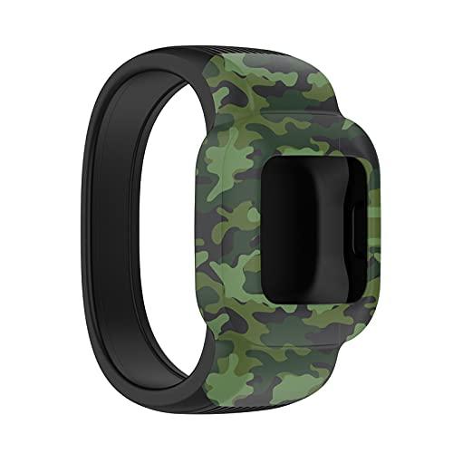 FUNMIX Correas de reloj de silicona, correa de reloj de repuesto correa de reloj sin hebilla compatible con Garmin Fit JR3 / vivofit jr.3
