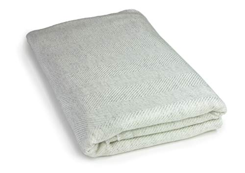Youni Manta de cachemira Home 135 x 270 cm, manta de cachemira exclusiva para sofá de 100% cachemira, también como colcha, cubrecama, hecha en India (arena)