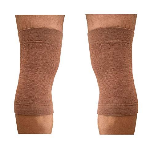 2 Ginocchiere in Lana Fascia Elastica per Ginocchia Rotula Supporto Ginocchio Ideale per Dolore Distorsioni Lesione del Legamenti (L)