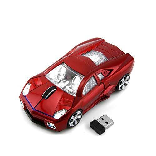 Cooles Sport-Auto-Form 2,4 GHz Wireless Maus 3 Tasten 1600dpi Hohe Tracking Speed Optische Maus Gaming-Mäuse USB Empfänger für PC Laptop Computer Geschenk