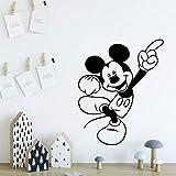 wZUN Pegatinas de Pared de Dibujos Animados de ratón clásico Pegatinas de Vinilo Pegatinas de Arte Pegatinas de Pared habitación de los niños 42X51cm