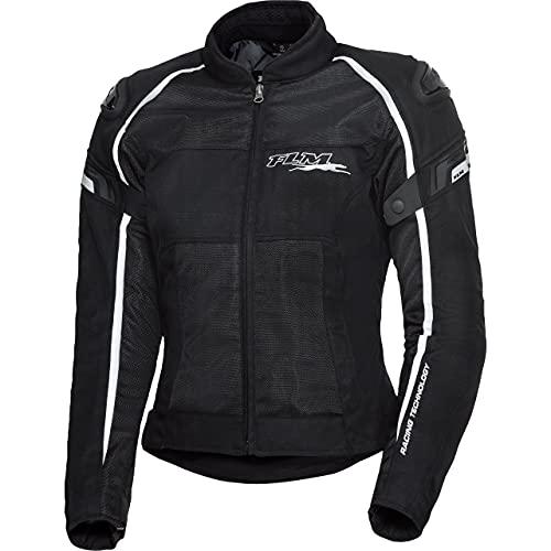 FLM Motorradjacke mit Protektoren Motorrad Jacke Sports Damen Textil Jacke 1.2 schwarz XS, Sportler, Ganzjährig