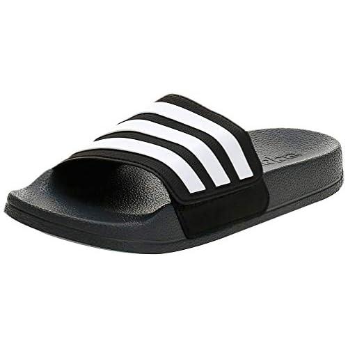 adidas Adilette Shower Adj K, Scarpe da Ginnastica Unisex-Bambini, Grigio Sei/Ftwr Bianco/Nero Nucleo, 38 EU