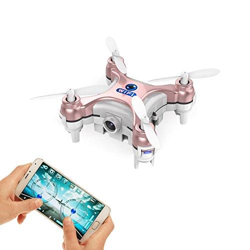 LNHJZ Drone FPV más pequeño con cámara Video en Vivo Aplicación iOS/Android Teléfono WiFi Control Remoto Mini Quadcopter Drone espía Drone de Bolsillo