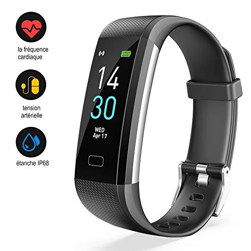 MROTY Montre Connectée Bracelet, Montre d'activité avec Fréquence Cardiaque, Tension Artérielle, GPS, Fitness Tracker d'Activité, Calories, Étanche IP68 pour Femme Homme Enfant