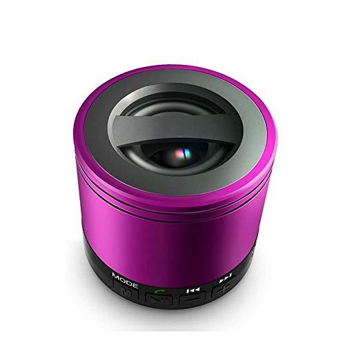 YUYANDE Altavoces Bluetooth inalámbricos portátiles, Sonido Envolvente 3D, sueño para Patio Trasero, al Aire Libre, Viajes, Piscina, Fiesta en casa (Color : Purple)