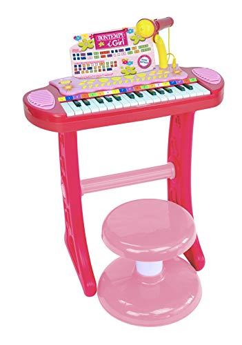 Bontempi 13 3671 Elektronik-Keyboard mit 31 Tasten, inkl. Mikrofon und Hocker