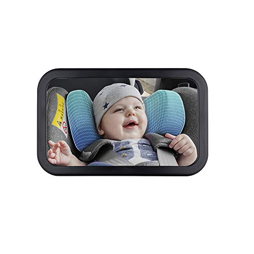 Bibao Baby Car Mirror,Shatter-Proof Acrylic Baby Mirror for Car,Wide Crystal Clear View ,Crash Tested and Certified for Safety,Best Newborn Car Seat Accessories
