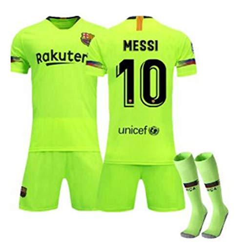 # 10 Messi Fußballtrikots # 9 Suárez # 17 Griezmann Sport Sets Männer Jungen Kleidung T-Shirts Shorts, Barce-lona Trainingsuniformen Kinder- / Jugendtrainingsset, Fußballfans bestes Geschenk-C-26