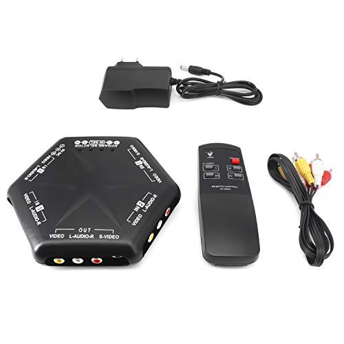 QiCheng & LYS 1 Entrada 4 Salidas 3 RCA AV Audio Video...
