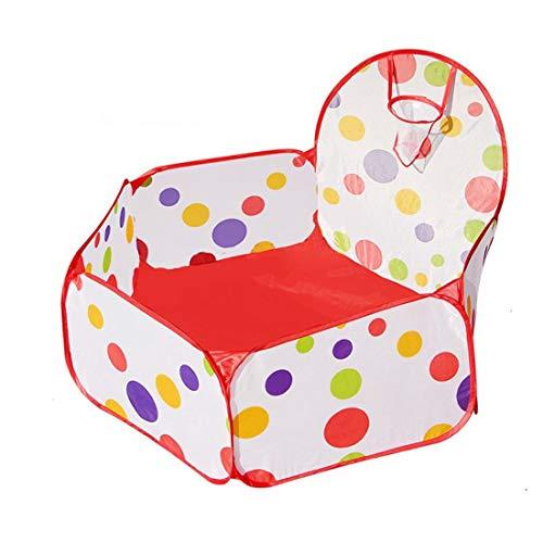 SHWYSHOP Hi Suyi - Tienda de campaña Plegable para bebés y niños pequeños con aro de Baloncesto (Bolas no Incluidas) (Plegable)