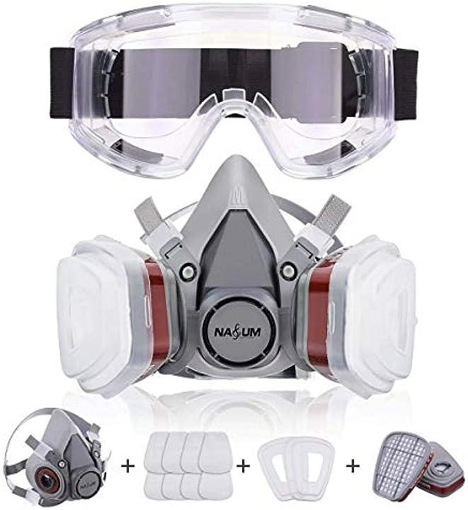 Maschera protettiva per verniciatura a spruzzo, polvere, levigatura a macchina, formaldeide nasum NASUMytds63