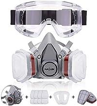 NASUM Facial Cubierta Antipolvo, con 2 Filtros / 2 Cajas / 8 Algodones/Gafas Protectoras, contra Polvo/Partículas/Vapor/Ga...