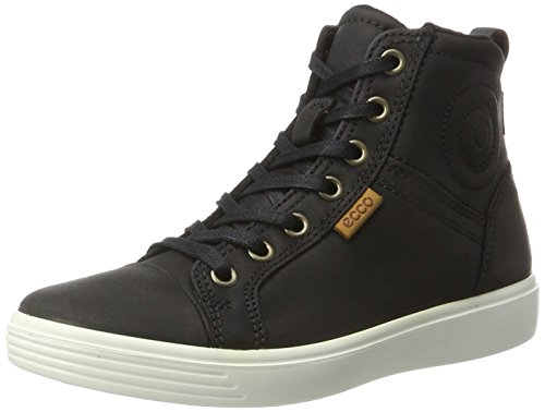 ECCO Unisex S7 Teen Hohe Sneaker, Schwarz (Black), 37 EU