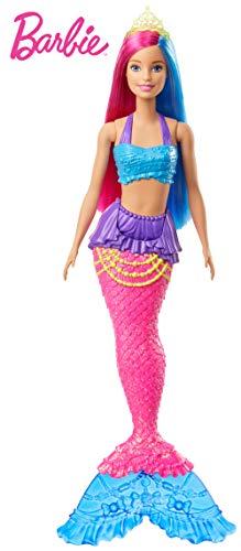 Barbie- Dreamtopia Muñeca Sirena, pelo rosa y azul, Color (