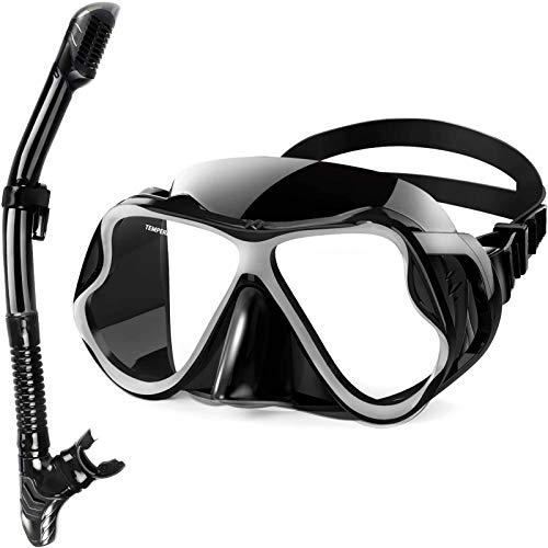 Juego de Snorkel, máscara de Buceo antivaho, Gafas de Buceo con Amplio Campo de visión panorámica, respiración Conveniente, Equipo Profesional de Snorkel