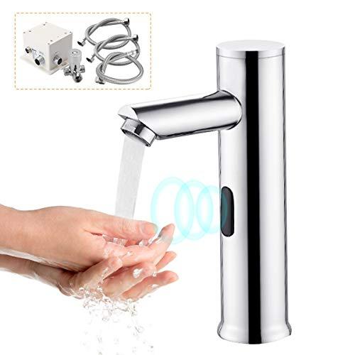 Fy-Light Grifo Sensor Automático,Grifo con sensor de infrarrojos,Baño Lavabo Grifo,Caliente y Frío Mezclando Agua Grifo,de Baño Grifos(Caliente y fría)