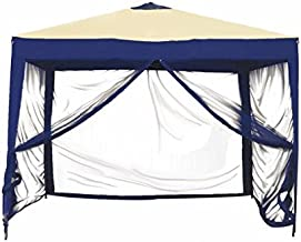 Bliss Hammocks Stow-EZ 10' X 10' Pop-up Canopy with Mesquito net and Carry Bag Denim Blue/22.00