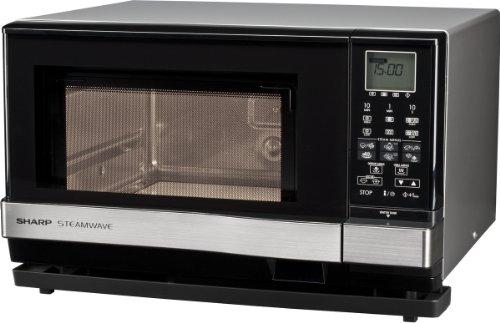 Sharp Electronics AX1110INW Mikrowelle-Dampfgarer / 900 W / 27 L Garraum / 1100 W Grill / 910 W Dampfgenerator / silber / Grillfunktion / 26 vorprogrammierte Automatikprogramme