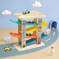 TOP BRIGHT Pista Macchinine per Bambini 1 2 Anni – Pista Auto da Corsa con 4 Mini Macchinine – Senza BPA, in Legno – Resistente e Sicura – Gioco Educativo Colorato e Divertente #8