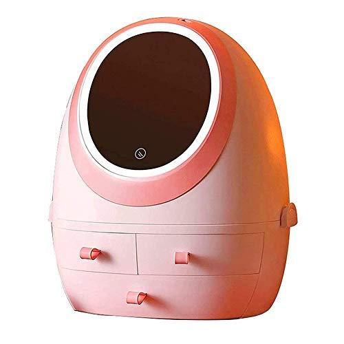 SETSCZY Organizador De Maquillaje Multifunción con Luz LED, con Espejo Y Luz,...