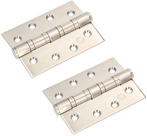 KOTARBAU® 2er Set Edelstahl Türscharnier mit Gleitlagern 100x75mm für Schwerlast Türband
