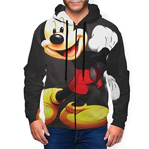 Sudadera con capucha y bolsillo con cremallera para hombre, diseño de Mickey Mouse