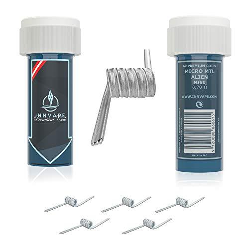 6x INNVAPE Premium Coils für Selbstwickelverdampfer RDTA RTA RDA - 12 Varianten verfügbar (Micro MTL Alien)
