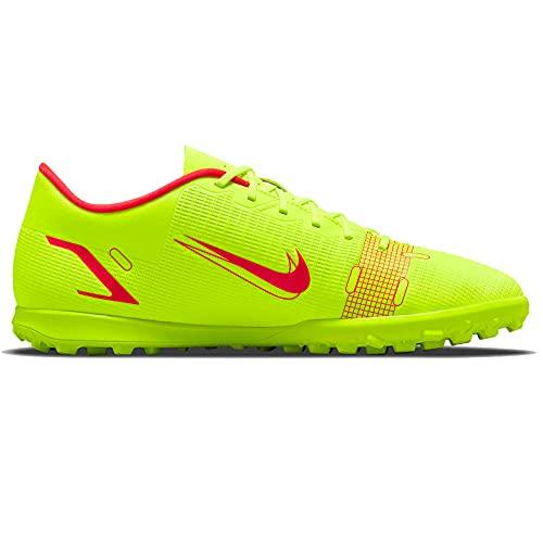 Nike Vapor 14 Club TF, Scarpe da Calcio Unisex-Adulto, Volt/Bright Crimson, 44 EU