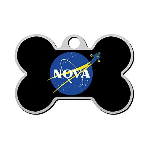 VinMea Nova Pet ID Tags Personalized Custom Print Bone Shape Dog Tags & Cat Tags