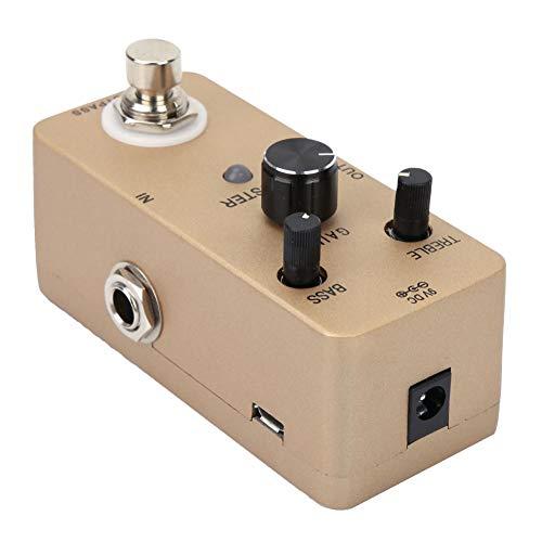 Bypass-Pedalschalter Dämpfer-Effekt-Pedal, Gitarren-Effekt-Pedal, Power-Sound-Pure-Gain-Metallgehäuse für E-Gitarren-Instrumente