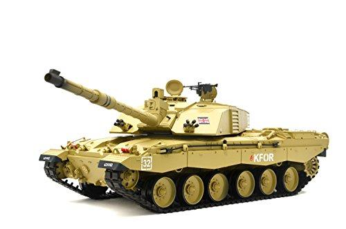 """ES-TOYS RC Panzer Britischer Challenger 2\"""" Heng Long 1:16 mit Rauch&Sound und Metallgetriebe -2,4Ghz -V6.0"""