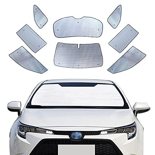 ZWMBAOR Parasol para Coche, para Toyota Levin2014-2021,con Ventosa,Material De Papel De Aluminio,Parabrisas,Parasol,Bloques Plegables,Protector De Visera UV,Que Mantiene Su Vehículo Fresco,201