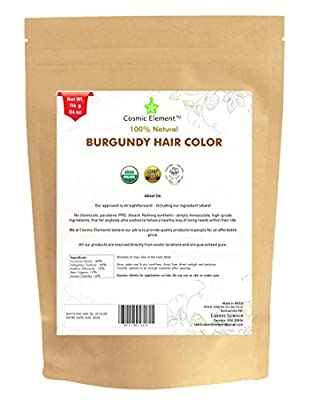 Cosmic Element USDA Organic Hair Coloring Powder with Assorted shades