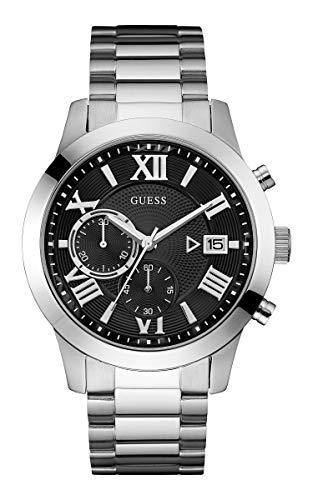 GUESS Atlas Herren-Armbanduhr 44mm Armband Edelstahl + Gehäuse Quarz W0668G3